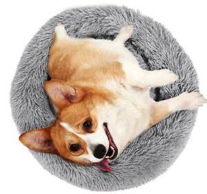 lit rond en peluche pour chien ou chat