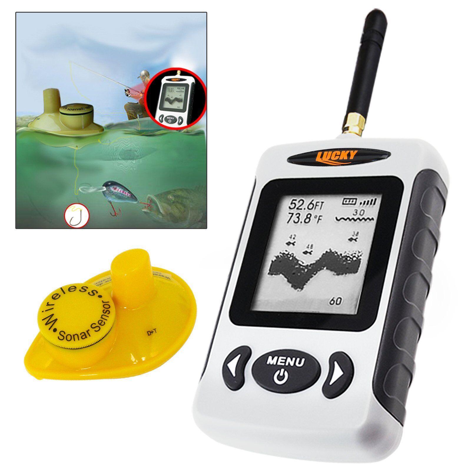 Kabellos Tragbar Fisch Finder Sonar Radio °C °F IPX4 Angeln Ausrüstung Werkzeuge