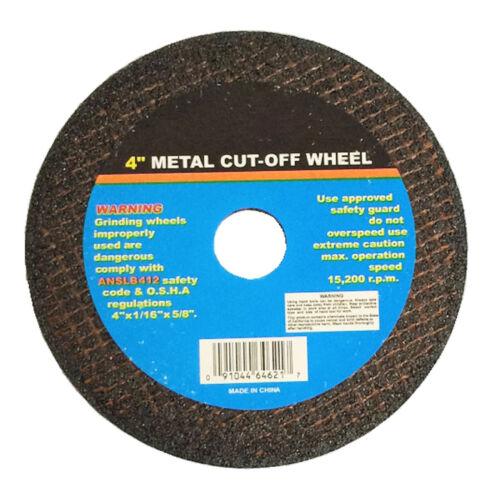 """100pc 100pcs 4/"""" X 1//16/"""" X 5//8/"""" Thin Cut Off Wheel"""