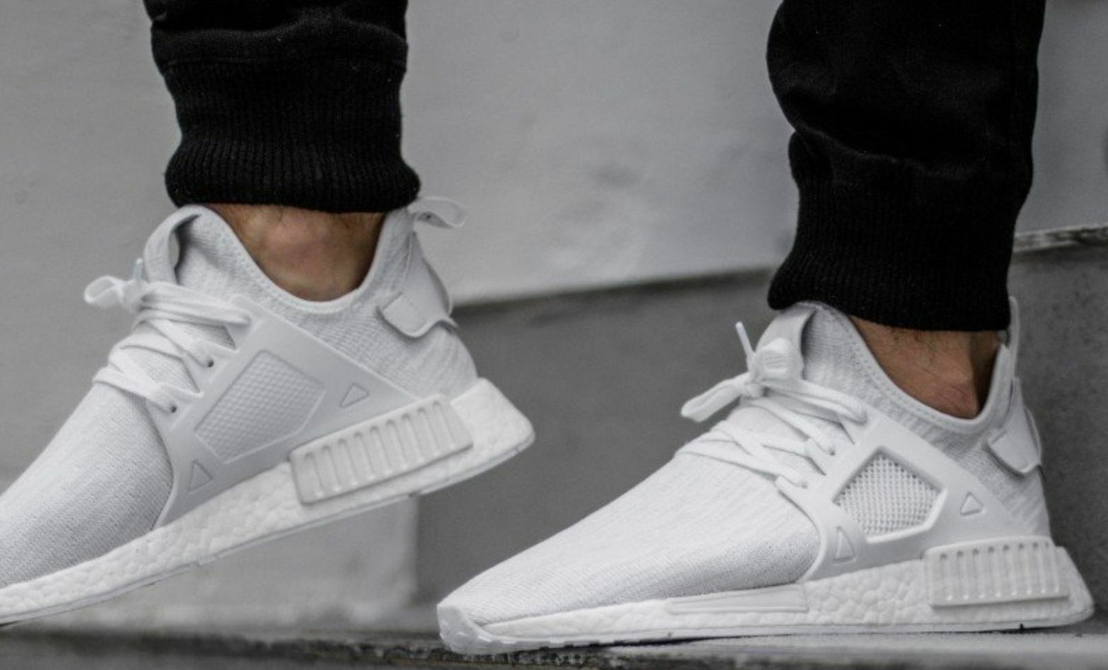 Adidas NMD_XR1Triple White White White EU release FootLocker Exclusive BY3052 AUTHENTIC 6685d4
