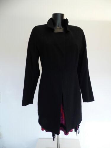 Black Blazer Jacke Ute Hentschel Lang amp;white Gr 38 Schwarz Wolle Design ZqESwxfZ