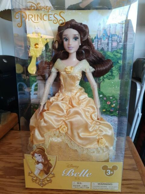 Disney Parks Exclusive Princess Belle Beauty and the Beast Doll with Doll Brush
