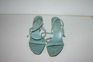 SERGIO-ROSSI-aqua-strappy-sandals-size-37-5