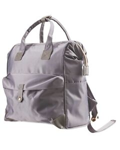 Mamia-Baby-Changing-Backpack-with-Bottle-Holder-amp-Changing-Mat-GREY