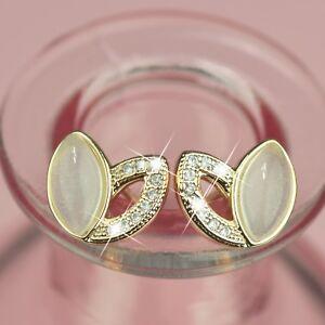 18k-yellow-gold-gf-made-with-SWAROVSKI-crystal-flower-bud-jade-earrings-cute