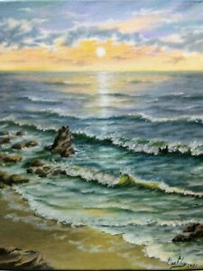 Art-14-034-11-034-oil-painting-ocean-seascape-nature-realistic-sunset-waves