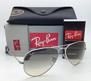 b1d6ad4dafbfe Ray-Ban RB3025 Aviator 003 32 55mm (SMALL) Light Gray Gradient ...