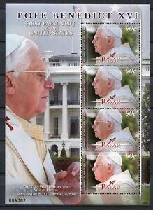 Palau-2008-Papst-Benedikt-Pope-Benedict-USA-2772-Kleinbogen-Postfrisch-MNH