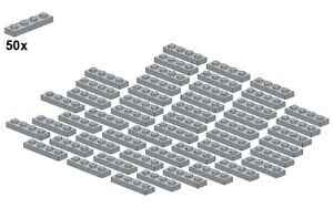 Used-LEGO-Plates-Lightbluishgray-3710-10-1x4-50Stk-Platte-Hellgra