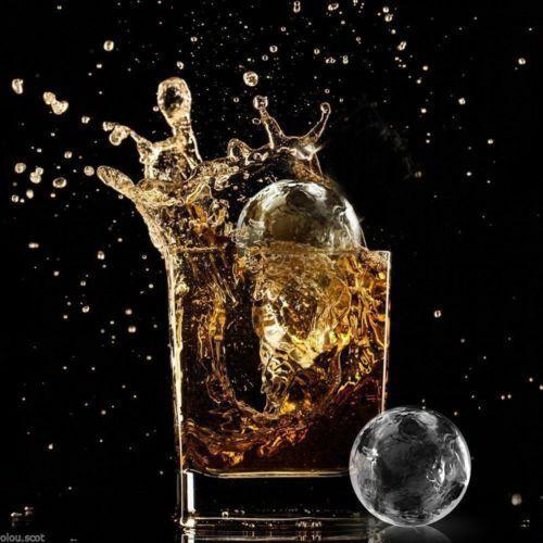 Tray Mold Cube Ice Balls Maker Whiskey Cocktails Silicone Round Slow-melting Kit