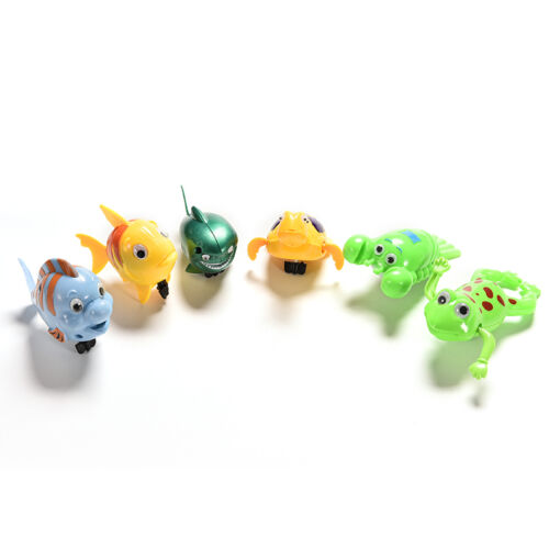 z Wind-up Frog Swimming NPol Bath Time Animal Clockwork Floating Kid Baby Toy T