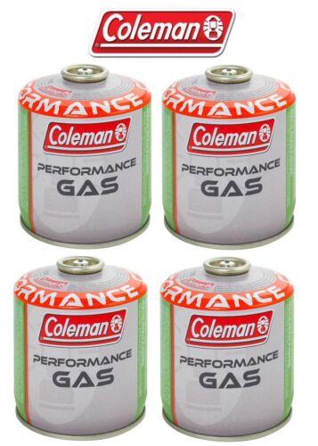 4 PEZZI * BOMBOLETTA CARTUCCIA GAS COLEMAN c500 performance FILETTO 440 g GAS