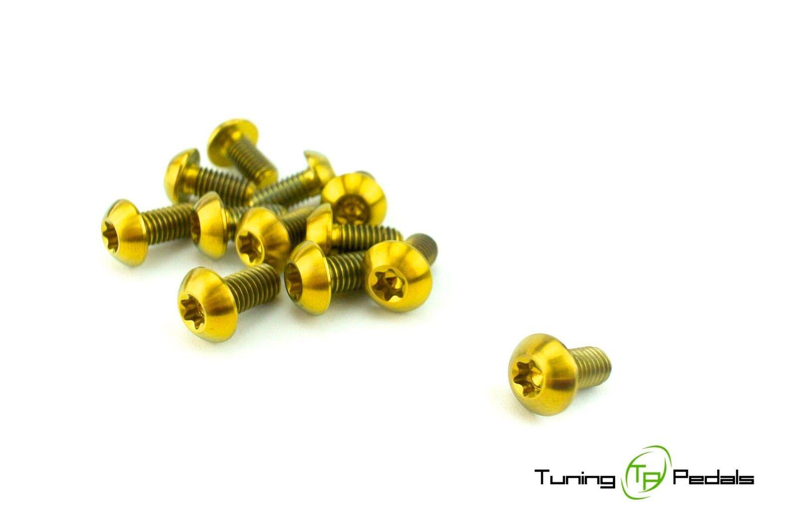 Série 12 DISQUES DE FREIN Lot Vis en titane M5 x 10 mm, dorée