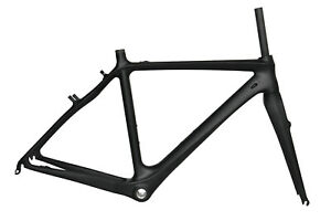 54cm BAS Cyclocross Bike Carbon Frame Fork Di2 V Brake Internal black Matt