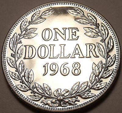 Coins: World Massive Proof Liberia 1968 Dollar~14,396 Minted~1st Year Ever Minted~free Ship With The Most Up-To-Date Equipment And Techniques