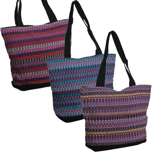 Handwoven Panel Weave Shoulder Bag from Guatemala | Fair Trade | Multiple Colors