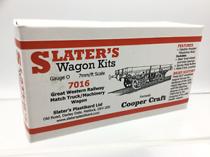 Slaters-7016-O-Gauge-GWR-Match-Truck-Machinery-Wagon-Kit