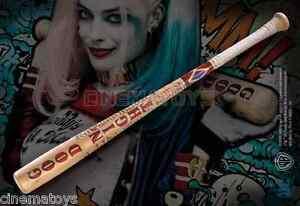 Harley Quinn Mazza Da Baseball Dans Legno Bat Authentic Prop Replica Suicide Squad