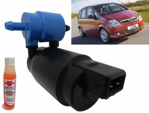 Front /& Rear Windscreen Washer Pump Vauxhall Meriva Mk1 2003/>2010 Screen Wash