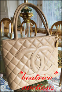 e20d2b249d93 AUTHENTIC CHANEL CC MEDALLION BAG TOTE with GOLD Hardware BEIGE ...