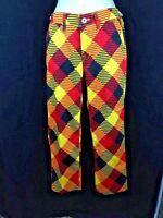 Womens Loudmouth Cheezburger Capri Pants Size 2 $79
