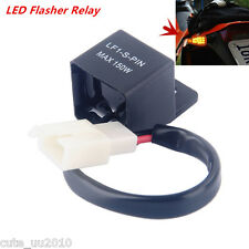 LED Flasher Relay Fix Motorcycle Turn Signal Lights Hyper Flash Electronic 2-Pin