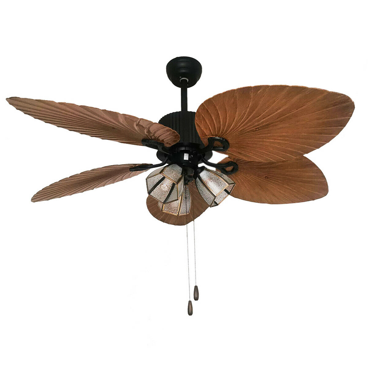 Harbor Breeze 52 Ceiling Fan With Light Fixture And Palm Leaf Blades For Sale Online Ebay