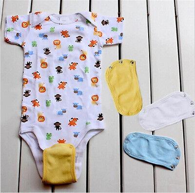 2Pcs Baby Romper Partner Utility Bodysuit Jumpsuit Diaper Lengthen Extend Film