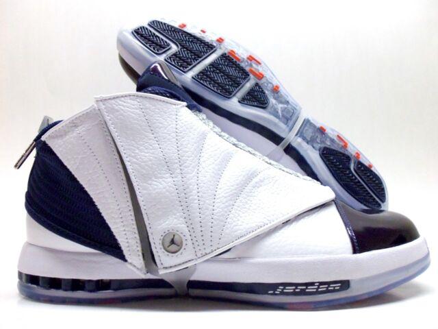 info pour b69f4 aa759 Nike Air Jordan 16 XVI Retro Size 10 White Midnight Navy OG 683075-106 2016