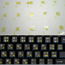 Lettere adesivi tastiera italiana stiker notebook Russo cirillico ukraino giallo