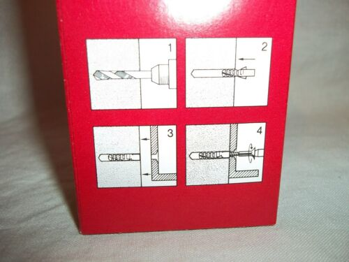 QTY 100 of # 6 Swiss made Delta Genuine Rawl Plug Size 6mm x 30mm Cement Anchors