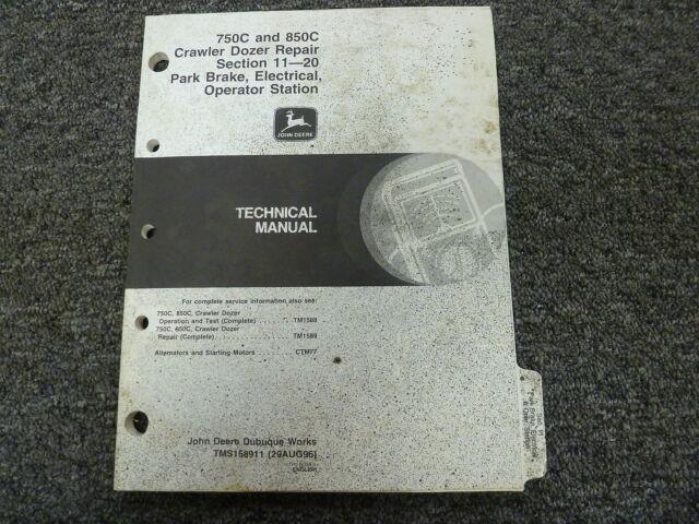 John Deere 750c 850c Crawler Dozer Electrical Wiring