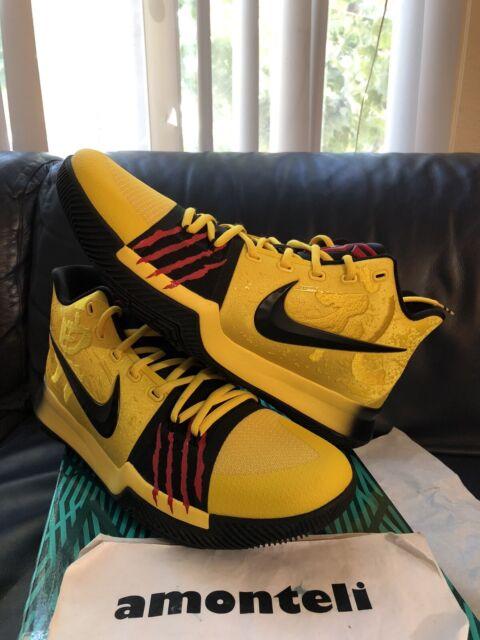 Nike Kyrie 3 Mamba Mentality Size 12 Yellow Concept SB Bruce Lee Kobe