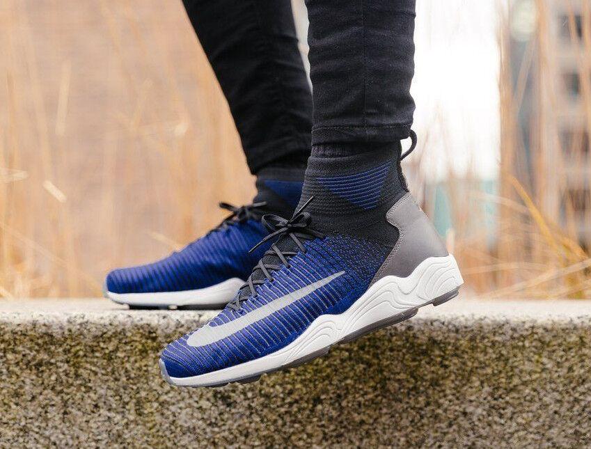 Nike Zoom MERCURIAL XI FK Flyknit Scarpe Da Ginnastica Running Moda Blu-Varie Taglie Scarpe classiche da uomo