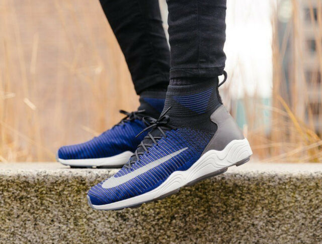 NIKE ZOOM MERCURIAL XI FK Flyknit Trainers Running Fashion Blue - Various  Sizes f71c97bd6