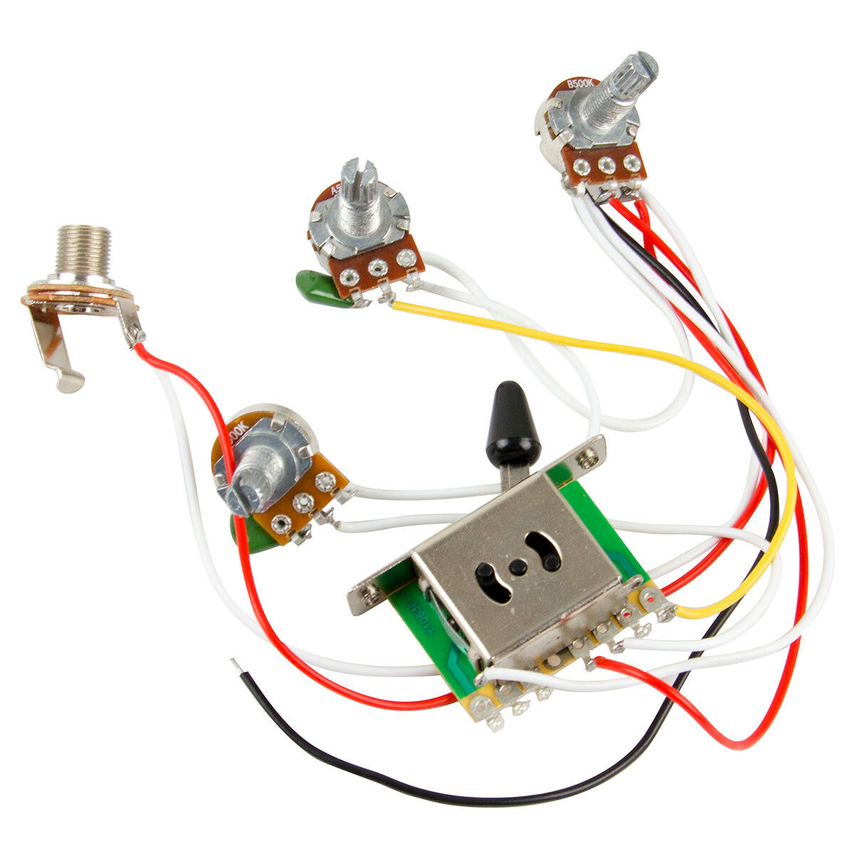 Guitar Wiring Harness Kit 5 Way Switch 1V2T 500k Pots for Fender Strat for  sale onlineeBay