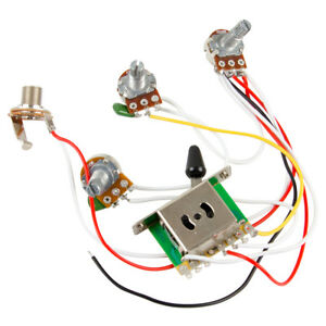 Guitar Wiring Kit : guitar wiring harness kit 5 way switch 500k pots for fender stratocaster strat ebay ~ Hamham.info Haus und Dekorationen