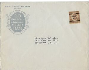 1920-039-s-Armour-amp-Co-Mailer-to-Woonsocket-RI-Scott-576-w-Chicago-IL-Precancel