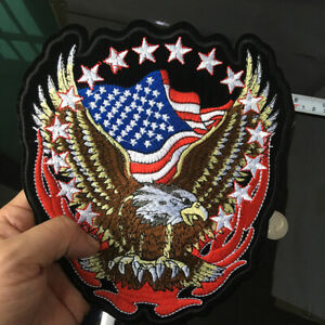 USA-FLAG-EAGLE-EMBROIDERED-PATCH-biker-usa-bike-Jacket-Sewing-Bird-Applique