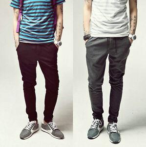 NEW-Men-Casual-Harem-Hip-Hop-Dance-Skinny-Taper-Sweat-Sport-Pant-Trousers-Slacks