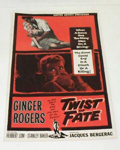 TWIST-OF-FATE-BEAUTIFUL-STRANGER-1954-Movie-STUDIO-FILM-PRESSBOOK-Ginger-Rogers