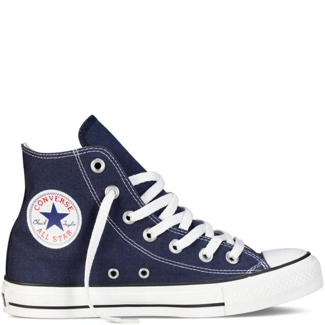 b222b893b97672 Converse Chuck Taylor All Star Hi Navy Canvas White Men Classic ...