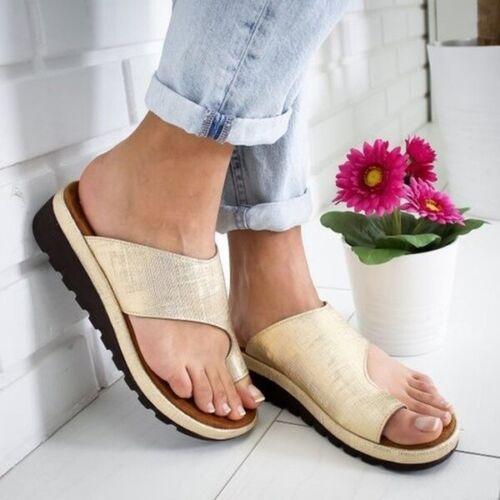 Femme Confortable Plateforme Sandale Chaussures femmes-cuir pu-oignon Correcteur