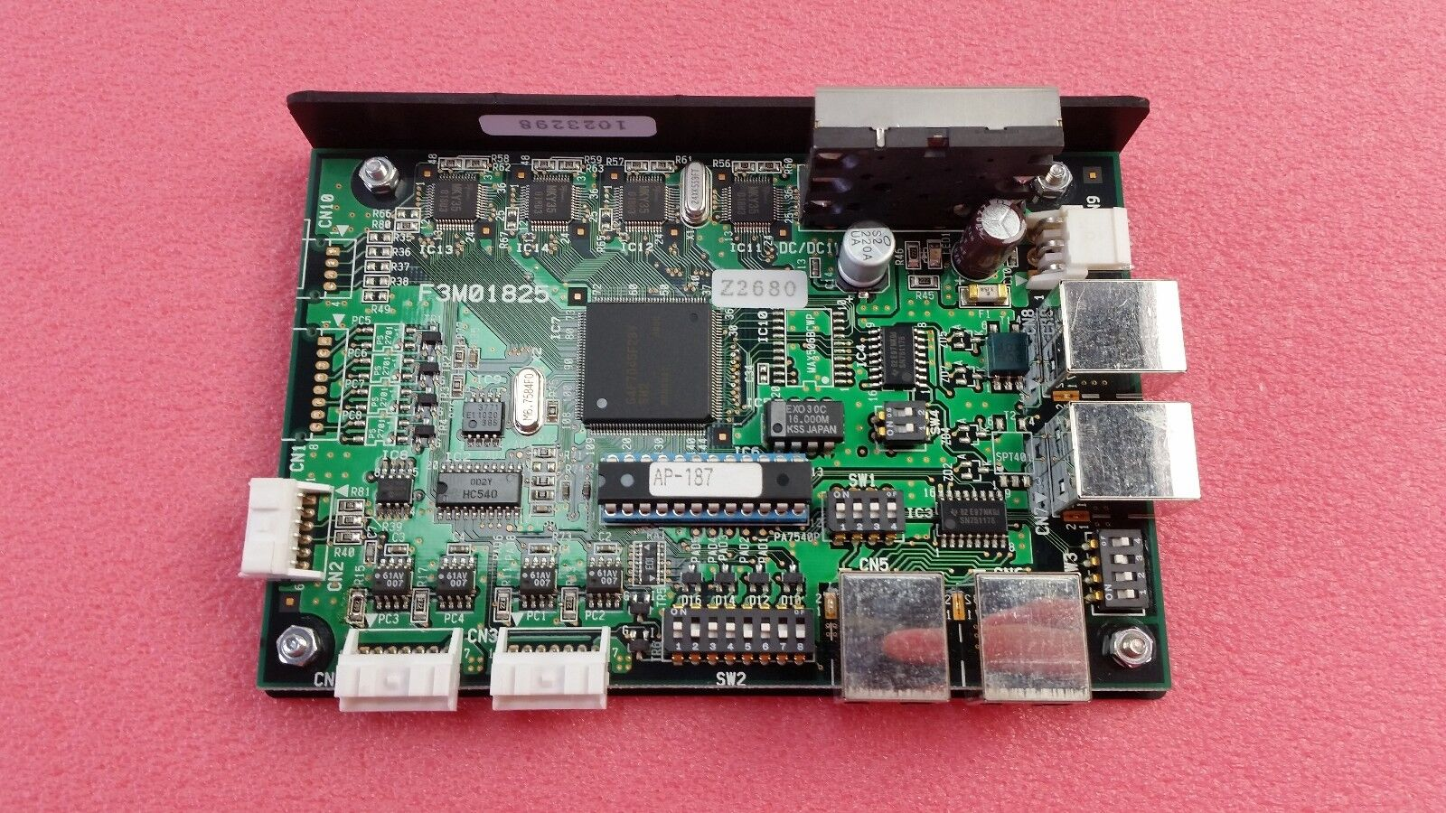 Tel Tokyo Electron Driver Board F3M01825, Z2680, D4290, Used Working