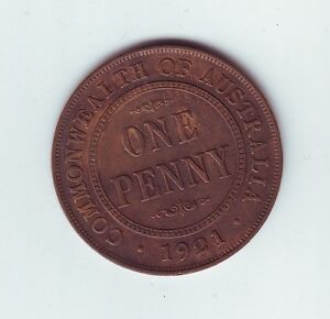 1921-Penny-Commonwealth-of-Australia-Coin-N-1034