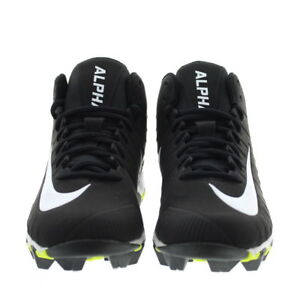 40c34a0441f Nike Alpha Menace Shark Football Cleats Black White 878122-011 Men s ...