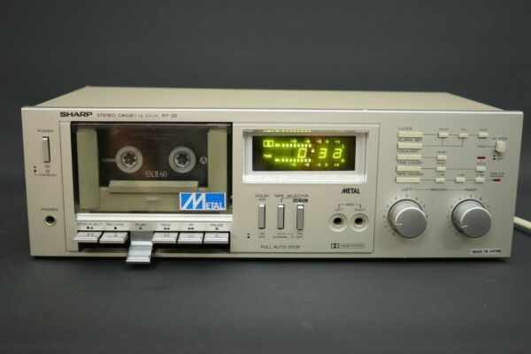 Alarm Sharp Rt-20 Cassette Deck-computer Controlled , Rare Vintage From Squonk.co Druppel Droog