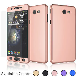 purchase cheap 5246f 0fb97 Details about For Samsung Galaxy J7 Sky Pro / Perx 360° Protective Case  Cover +Tempered Glass