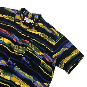 Natural-Issue-by-Feldini-Short-Sleeve-Button-Up-Graphic-Abstract-Shirt-Coogi-VTG