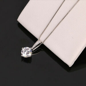 Simple-Fashion-Jewelry-Round-Cubic-Zirconia-Necklace-Pendant-for-Women-Wedding